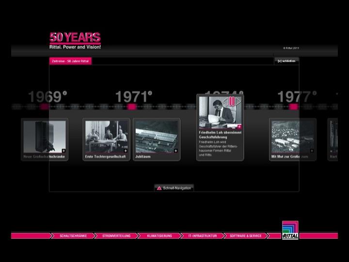 Website zum 50-jährigen Firmenjubiläum