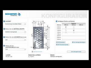 Online-Konfigurator für Lochbleche