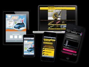 Abbildung von mobilen Endgeräten mit Responsive Design